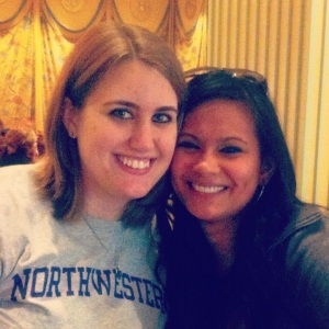 My best friend Michelle — who bought me my first Northwestern shirt — and me at the Encore